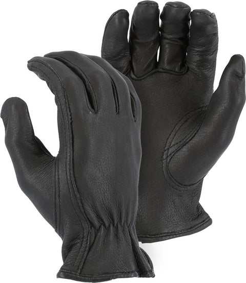 Majestic 1553 Top Quality Black Deerskin Leather Driver Gloves (DOZEN) - Global Construction Supply