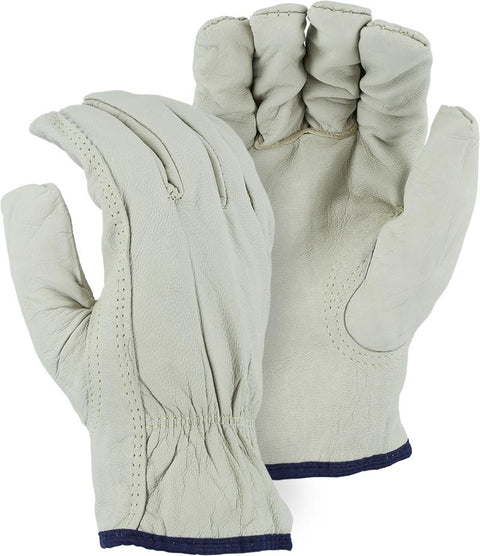 Majestic 1554KV A-Grade Goatskin Leather Driver Gloves Kevlar Lined (DOZEN) - Global Construction Supply