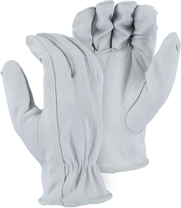 Majestic 1555 Goatskin Leather Driver Gloves Pearl Color (DOZEN) - Global Construction Supply