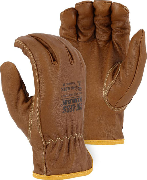 Majestic 1555WRK Cut-Less with Kevlar Water, Oil & Arc Resistant Goatskin Gloves (DOZEN) - Global Construction Supply