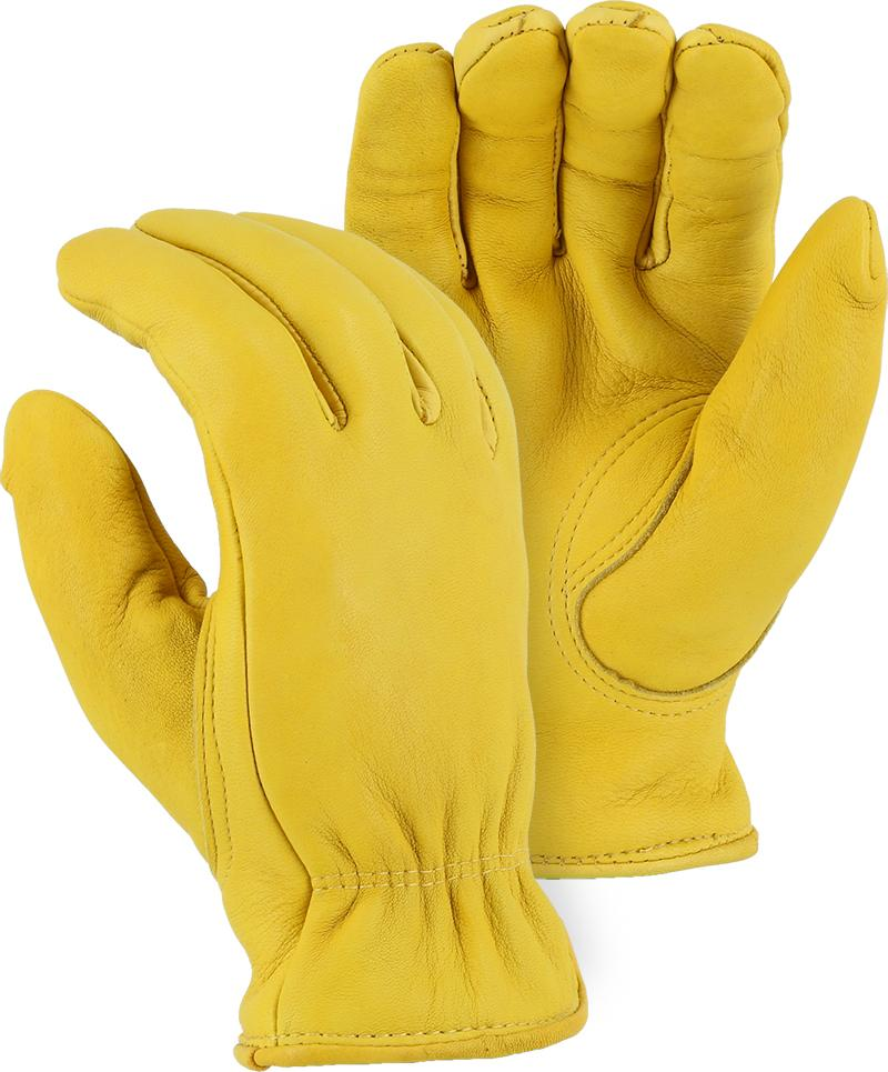 Majestic 1563T Elkskin Leather Driver Gloves Thinsulate Lined (DOZEN) - Global Construction Supply