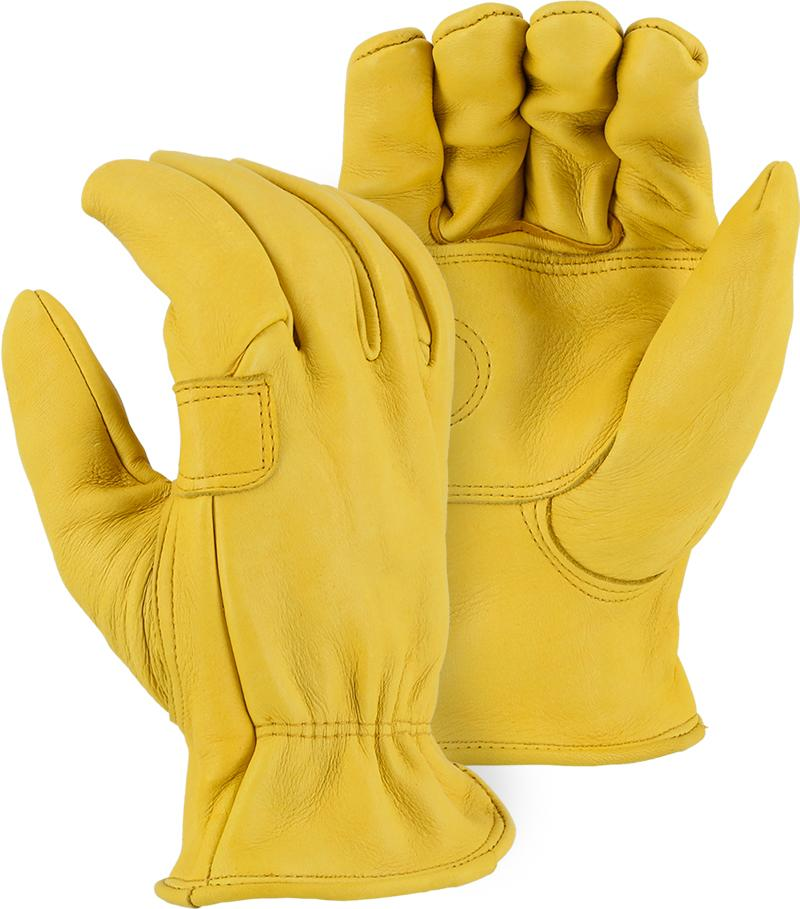 Majestic 1564 Elkskin Leather Driver Gloves Double Palm (DOZEN) - Global Construction Supply