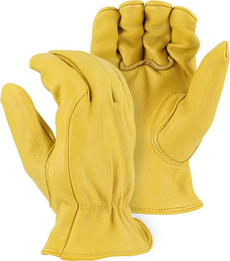 Majestic 1565 Elkskin Leather Driver Gloves Single Palm (DOZEN) - Global Construction Supply
