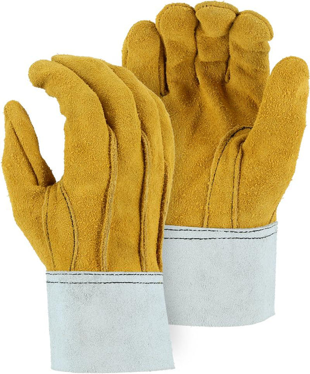 Majestic 1569 Split Deerskin Leather Work Gloves Clute Cut (DOZEN) - Global Construction Supply