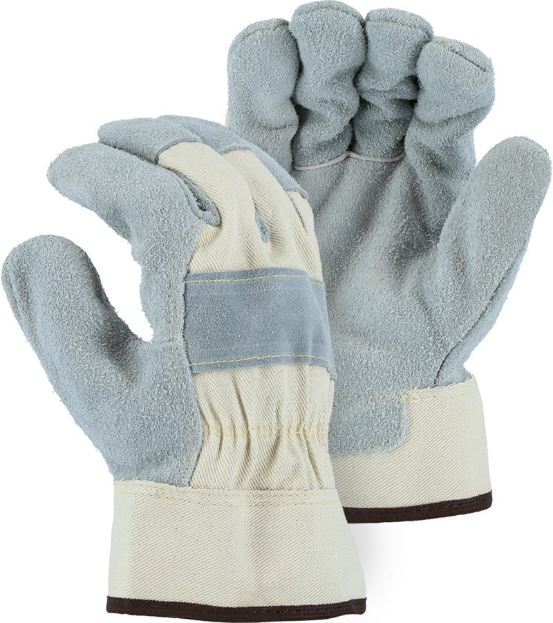 Majestic 1800 Split Cowhide Leather Palm Work Gloves Kevlar Sewn (DOZEN)