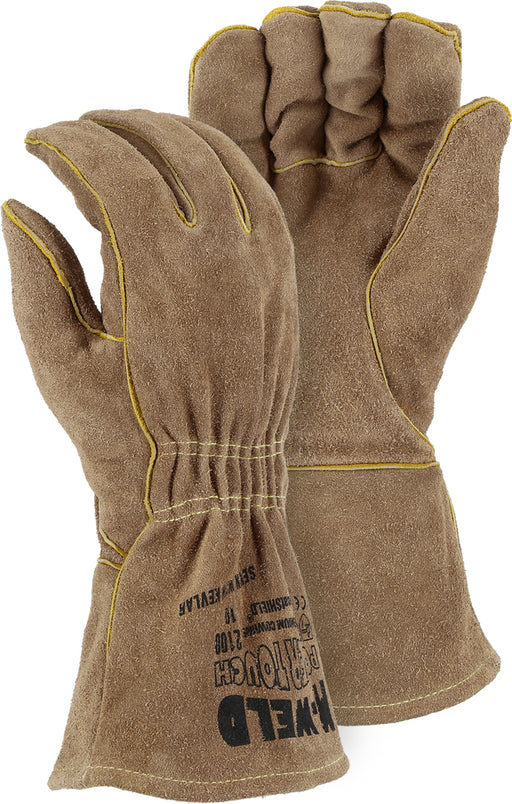 Majestic 2100 M-Weld Side Split Cowhide Leather Welders Gloves Kevlar Sewn (DOZEN)