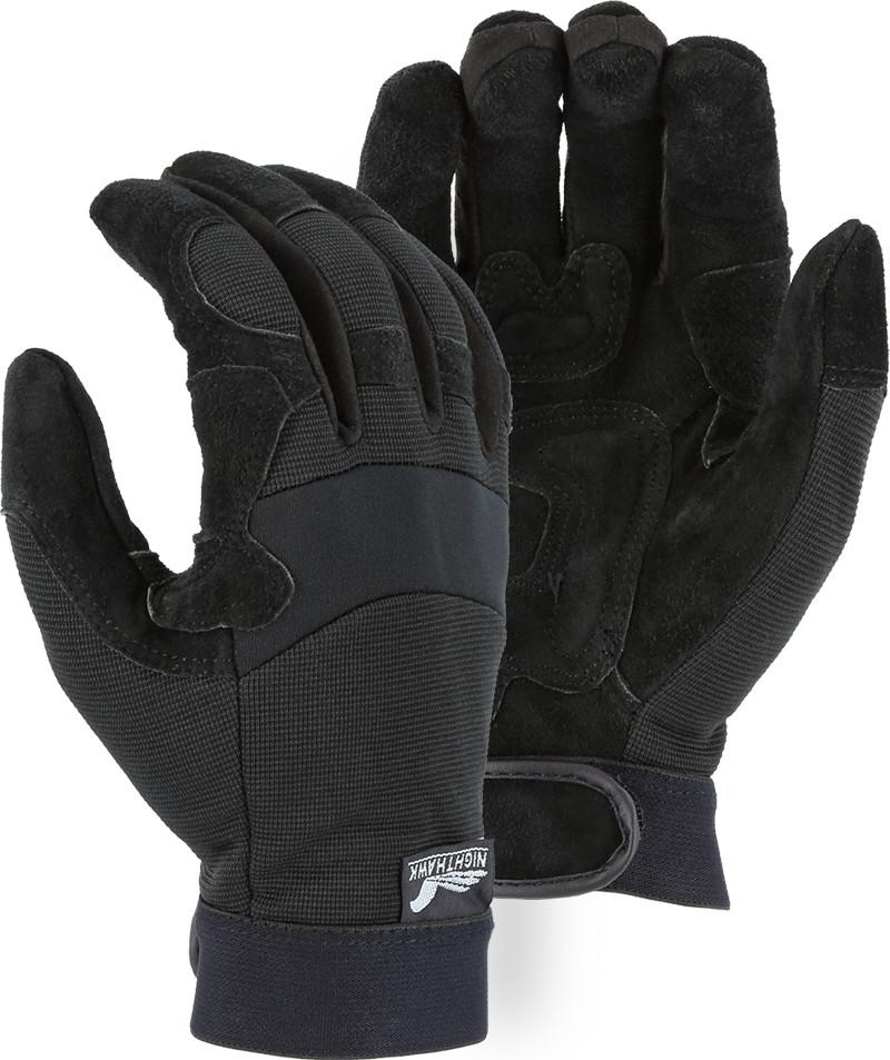 Majestic 2120 Black Reversed Cowhide Mechanic Style Gloves Padded Palm (DOZEN) - Global Construction Supply