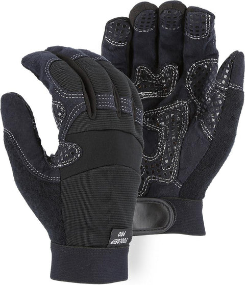 Majestic 2121 Armor Skin Mechanic Style Gloves Full Fingered Velcro Wrist (DOZEN) - Global Construction Supply