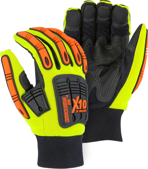 Majestic 21247HY-P Waterproof Hi Vis Yellow Armor Skin Knucklehead XL0 Lined (Pair) - Global Construction Supply