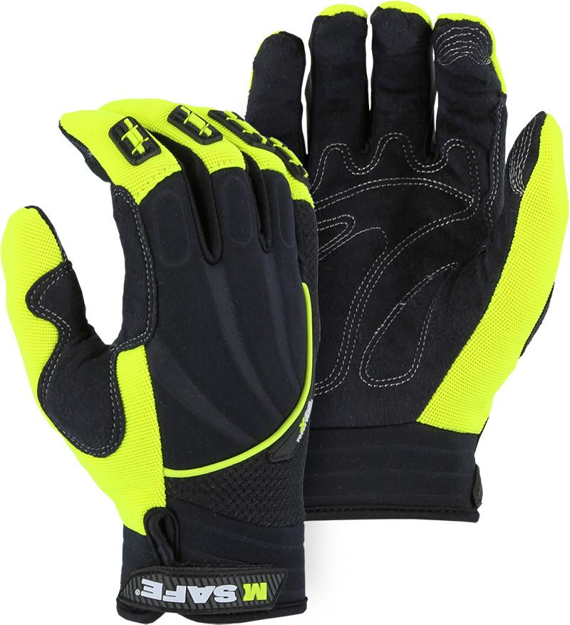 Majestic 2127HY Armor Skin 2X0 Mechanic Style Gloves Silicone Grip Index/Middle tip (DOZEN) - Global Construction Supply