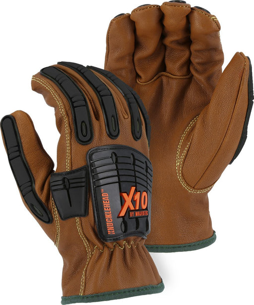 Majestic 21285WR Cut-Less with Kevlar Water, Oil & Arc Resistant Goatskin Gloves (DOZEN) - Global Construction Supply