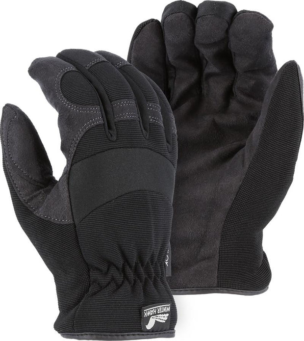 Majestic Winter Hawk 2136BKH Armor Skin Mechanic Style Gloves Heatlok Lined (DOZEN): Global Construction Supply