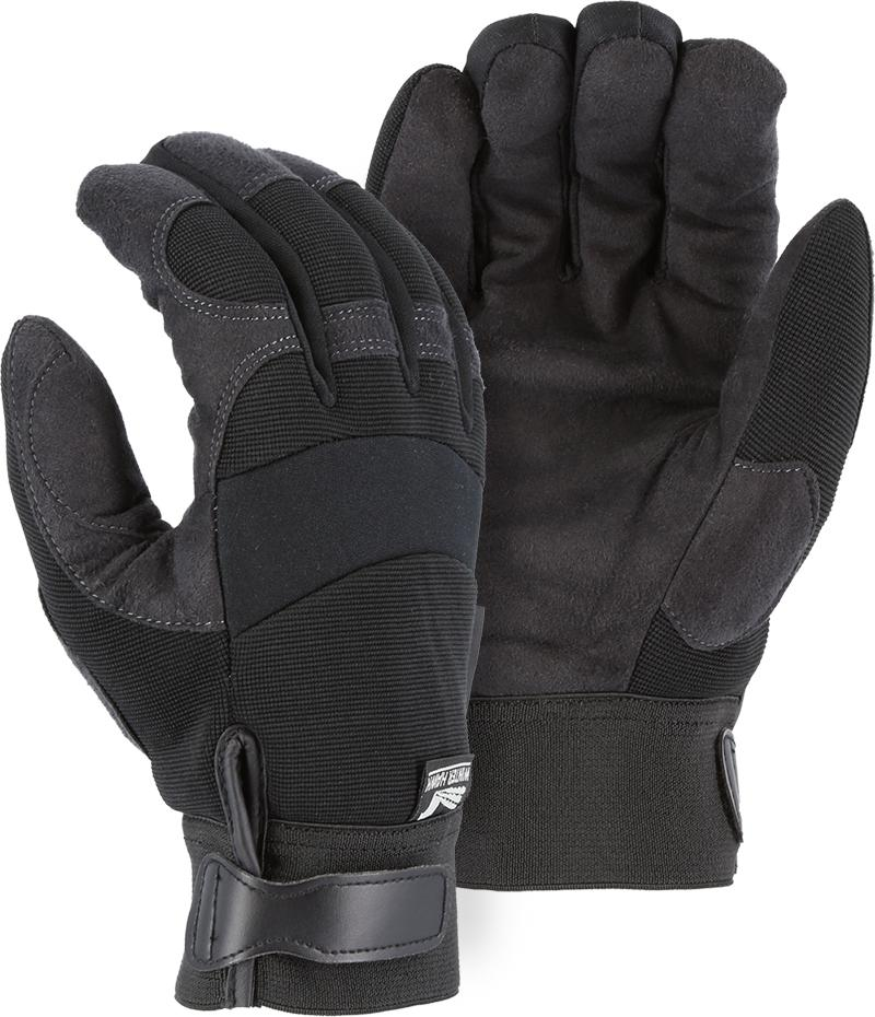 Majestic Winter Hawk 2137BKH Armor Skin Mechanic Style Gloves Heatlok Lined (DOZEN): Global Construction Supply