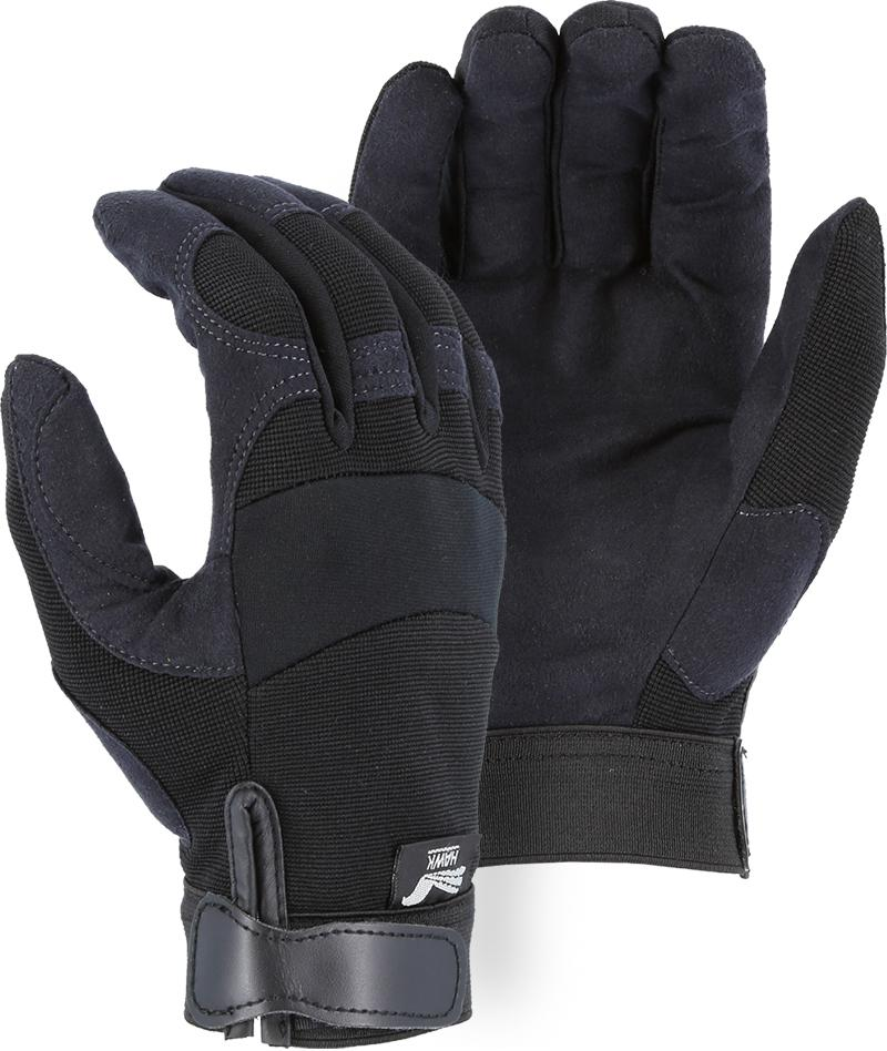 Majestic Winter Hawk 2137BKF Armor Skin Mechanic Style Gloves Fleece Lined (DOZEN): Global Construction Supply