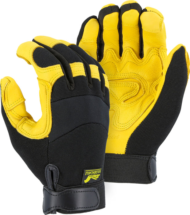 Majestic Golden Eagle 2150DP Mechanics Glove with Grain Deerskin Patched Palm (DOZEN)