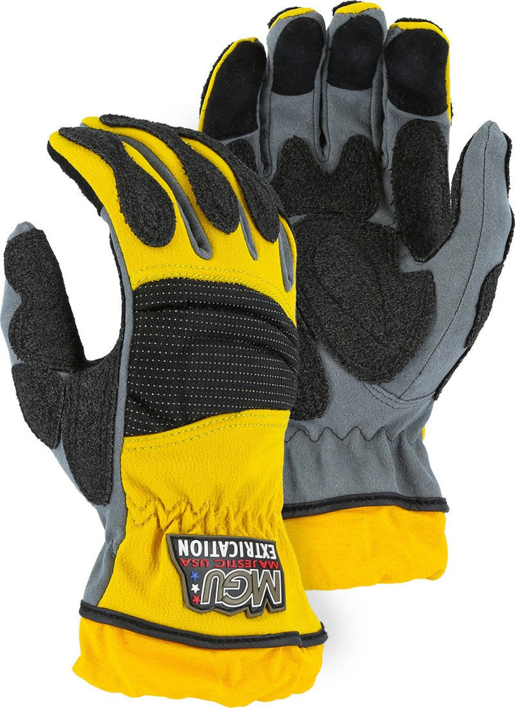 Majestic 2163 Extrication Gloves Anti Vibration Reinforced Patches Short Version (Pair) - Global Construction Supply