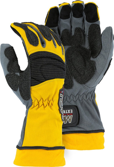 Majestic 2164 Extrication Gloves Anti Vibration Reinforced Patches Long Version (Pair) - Global Construction Supply