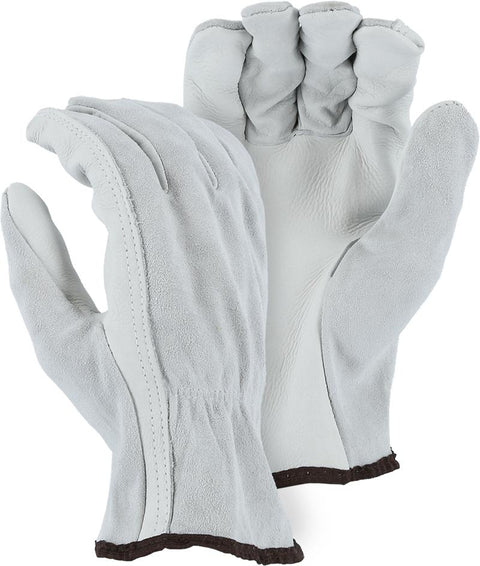 Majestic 2503 A-Grade Leather Cowhide Palm Driver Gloves (DOZEN) - Global Construction Supply