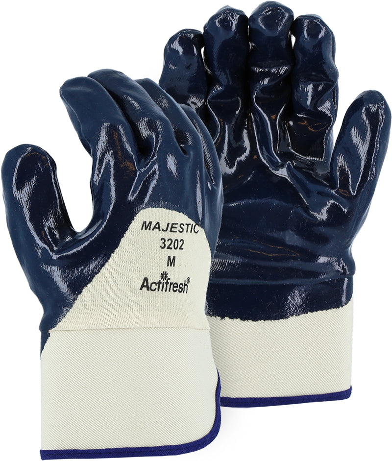 Majestic 3202 Palm Coated Nitrile Dipped Glove on Jersey Knit Liner (DOZEN)