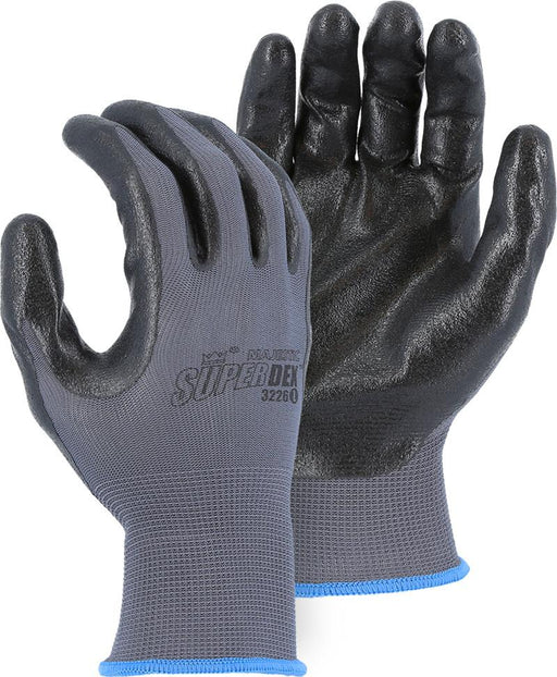 Majestic 3226 Black HCT Foam Nitrile Palm Coated Gloves 13-gauge Nylon Knit (DOZEN) - Global Construction Supply