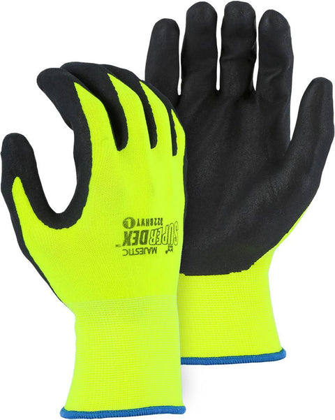 Majestic 3228HVY SuperDex Micro-Foam Nitrile Palm Coated Gloves Yellow/Black (DOZEN) - Global Construction Supply
