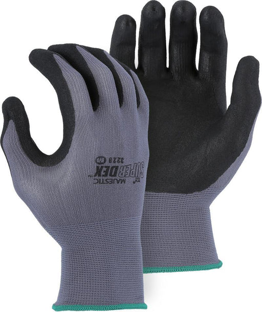 Majestic 3228 SuperDex Gray/Black Micro-Foam Nitrile Palm Coated Gloves (DOZEN) - Global Construction Supply