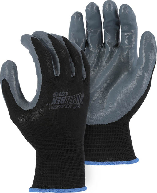 Majestic 3270 SuperDex Black/Gray Nitrile Palm Dipped Gloves (DOZEN)