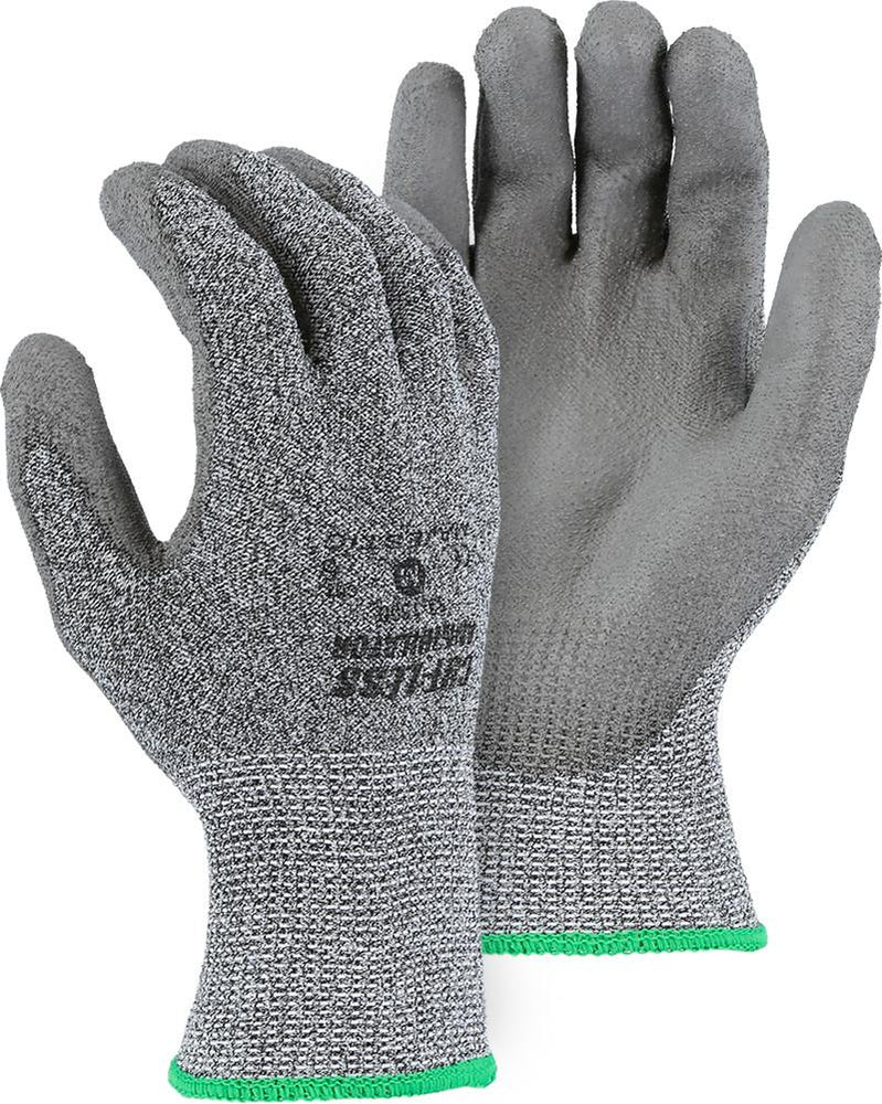 Majestic 33-1500 Cut Resistant Gloves Polyurethane Palm Cut 5 (Pair) - Global Construction Supply