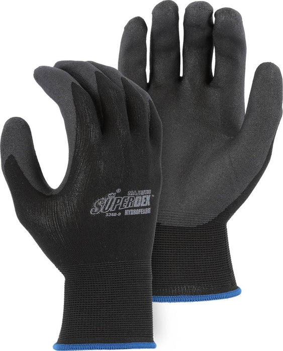 Majestic 3368 SuperDex 13-gauge Palm Dipped Gloves Hydropellent (DOZEN)