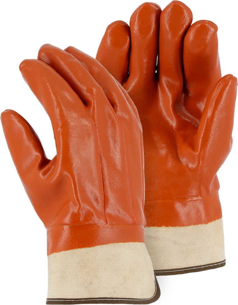 Majestic 3371C Winter Lined PVC Work Glove with Safety Cuff (DOZEN)