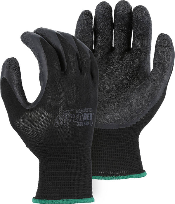 Majestic 3378BK 3/4 Latex Dipped Glove on Nylon Liner (DOZEN)