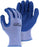 Majestic 3385A M-Safe Blue Wrinkled Latex Coating on Gray Knit Shell (DOZEN)