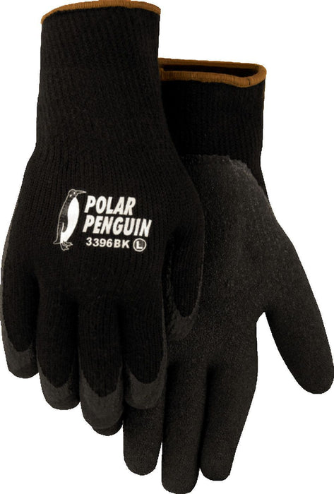 Size Small MAJESTIC LINED YELLOW RUBBER PALM GLOVE POLAR PENGUIN #3396BK
