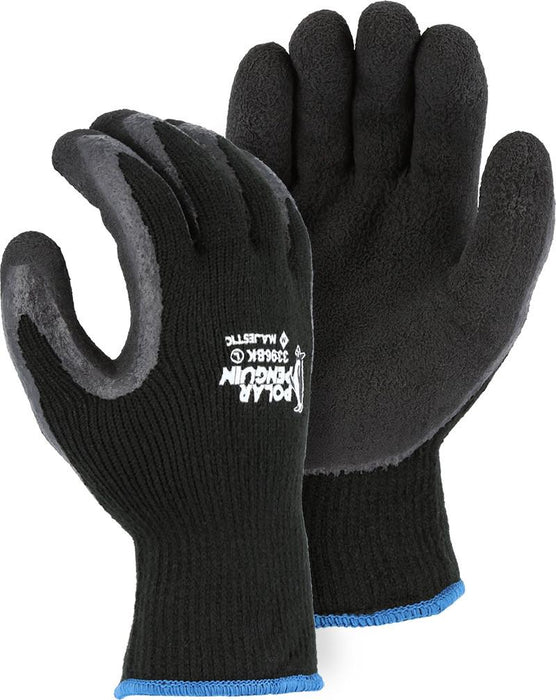 Majestic 3396BK Polar Penguin Winter Lined Black Knit Gloves (Pair) - Global Construction Supply