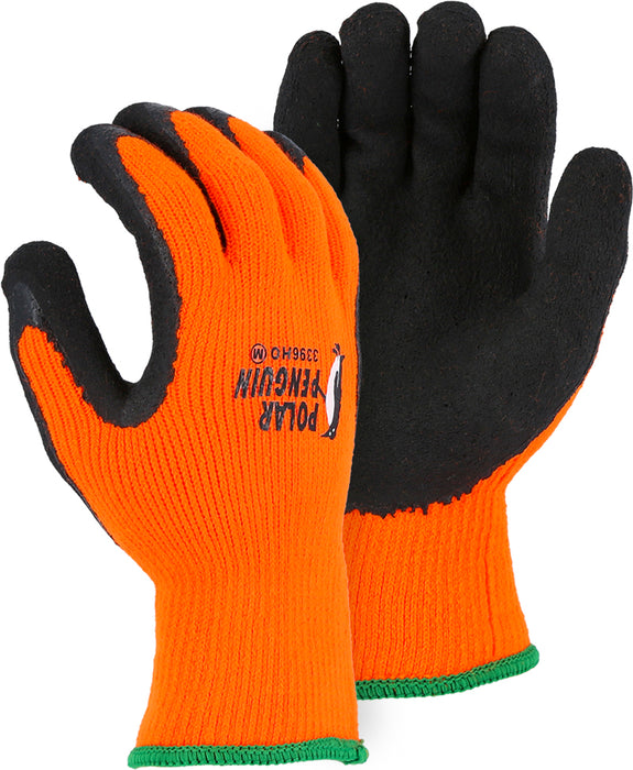 Majestic 3396HOT Polar Penguin® Winter Lined Glove w Foam Latex Palm (DOZEN)