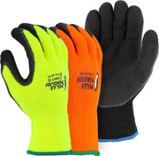 Majestic 3396HO Hi Vis Orange Polar Penguin Winter Lined Knit Gloves Foam Latex Dipped Palm (DOZEN) - Global Construction Supply