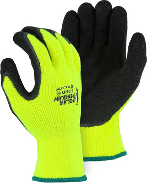 Majestic 3396HY Polar Penguin Winter Lined Hi Vis Yellow Knit Gloves (DOZEN)