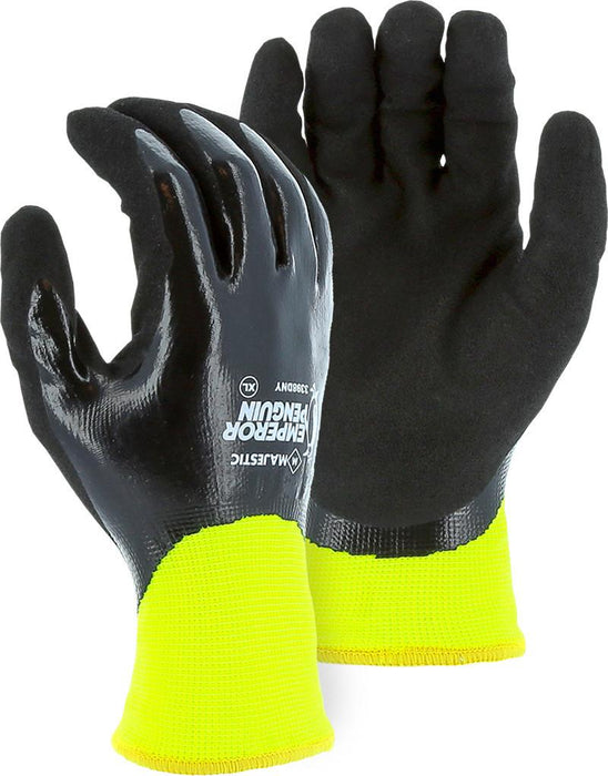 Majestic 3398DNY Emperor Penguin Insulated Waterproof Hi Vis Yellow Gloves (DOZEN) - Global Construction Supply
