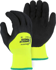 Majestic 3399KLY Emperor Penguin Insulated Waterproof 3/4 Latex Dip Hi Vis Yellow Gloves (Pair) - Global Construction Supply