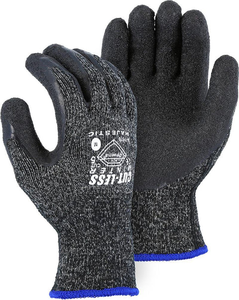 Majestic 34-1570 Winter Cut Resistant Gloves Dyneema Latex Palm Cut 5 (DOZEN) - Global Construction Supply
