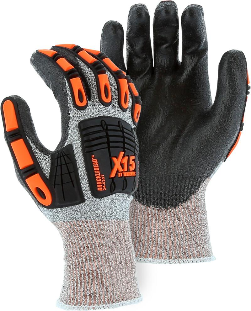 Majestic 34-5337 Knucklehead XL5 TPR Impact Protection Cut Resistant Gloves Dyneema Knit (DOZEN) - Global Construction Supply
