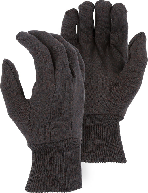 Majestic 3401 8oz Cotton Brown Jersey Knit Gloves (DOZEN)