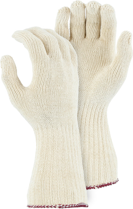Majestic 3403EL Medium Weight 100% Cotton Knit Glove w  Long Cuff (DOZEN)
