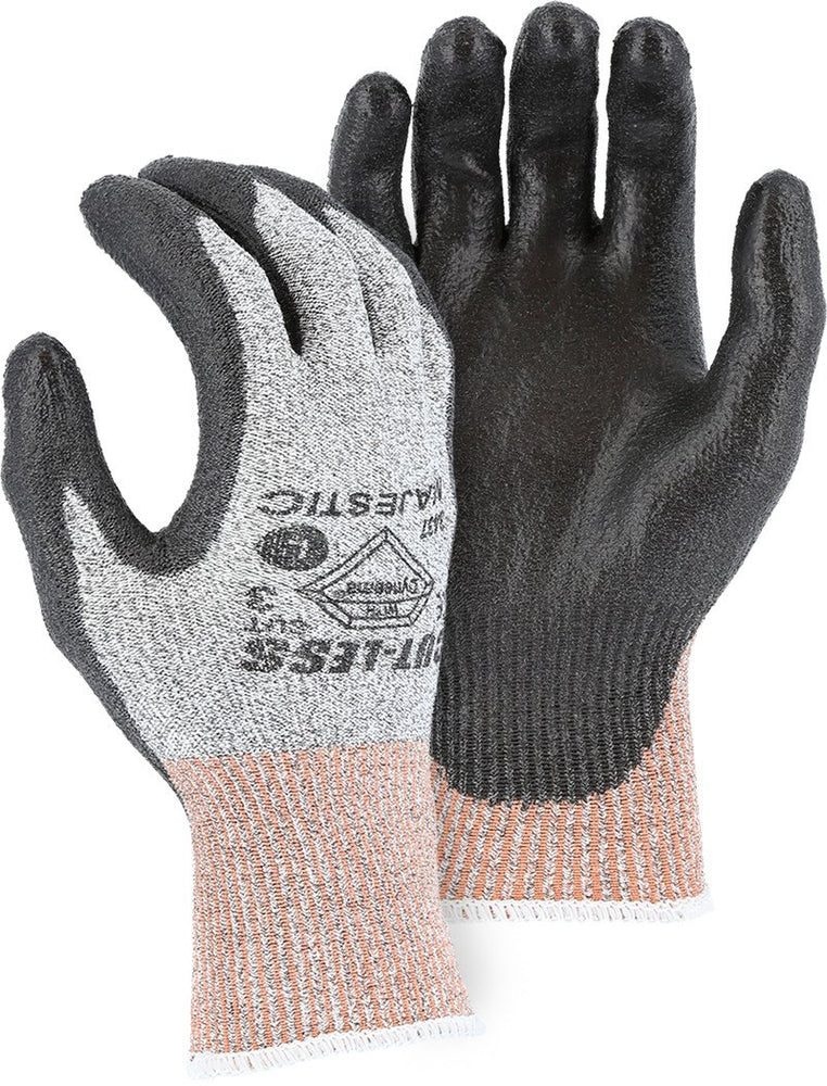 Majestic 3437-P Cut Resistant Gloves Dyneema 13-gauge Polyurethane Palm (Pair): Global Construction Supply