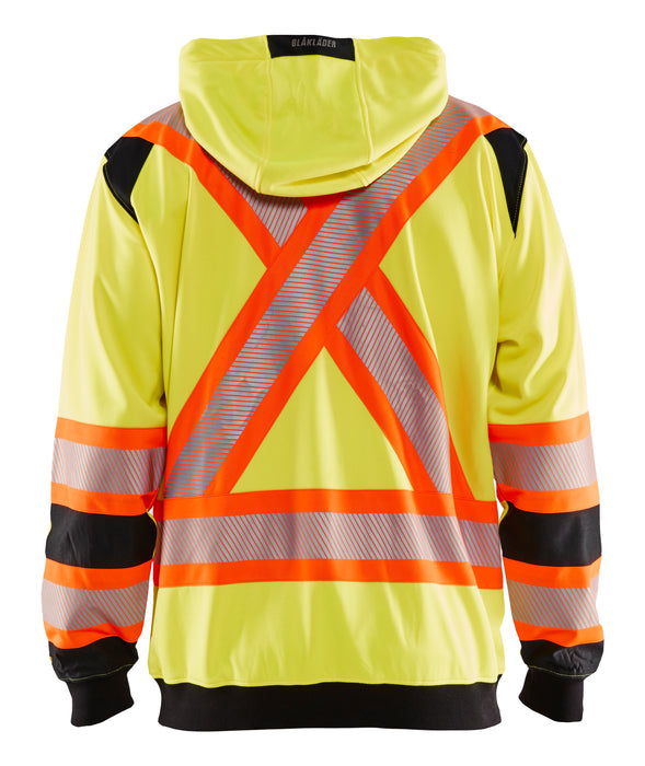 Blaklader Hi-Vis Hooded Sweatshirt X Back 3448