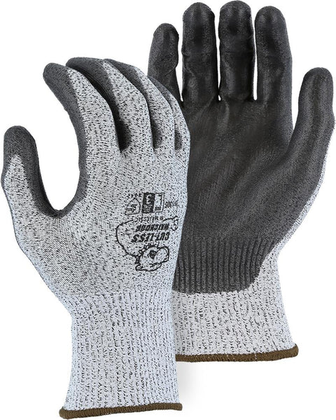 Majestic 35-1305 HPPE Cut-Less WatchDog Cut Resistant Gloves PU Palm Dip Cut 3 (DOZEN): Global Construction Supply