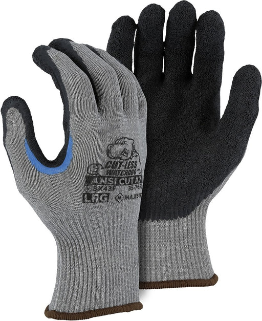 Majestic 35-7650 Cut-Less Watchdog® Knit Glove With Crinkle Latex Pal (DOZEN)