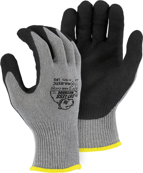 Majestic 35-7675 Cut-Less WatchDog Extreme Cut Resistant Gloves Sandy Nitrile Palm Cut 5 (DOZEN): Global Construction Supply