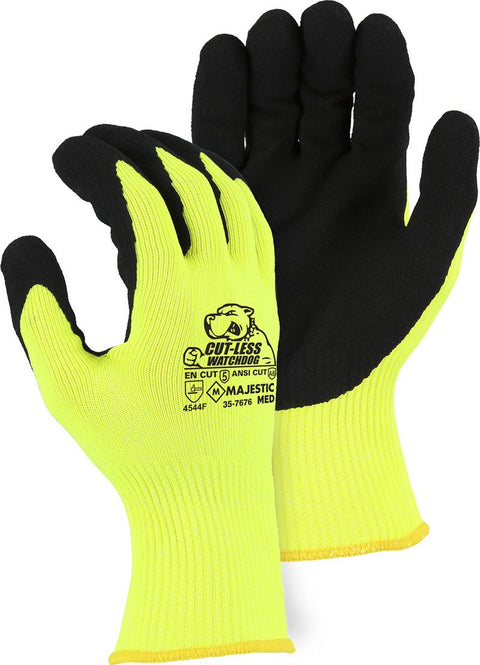 Majestic 35-7676 Touchscreen Cut-Less Watchdog® Glove with Sandy Nitrile Palm, A6 Cut (DOZEN): Global Construction Supply