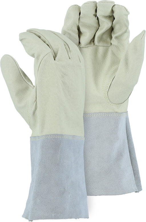 Majestic 3507G Pigskin Leather Welders Gloves Gaunlet Cuff Tig/Mig (DOZEN)